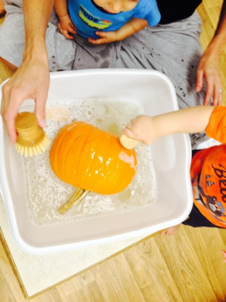 pumpkin washing 5
