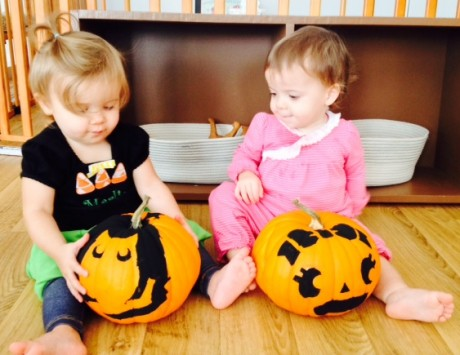 pumpkins hadley and marlie 1