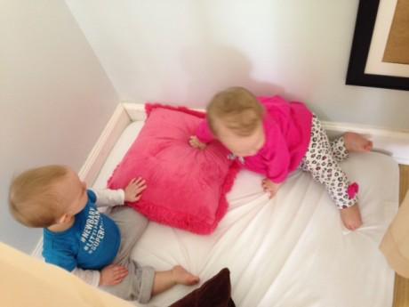 Christian and Clara under drapes 2-25